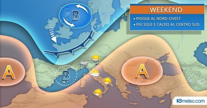 Meteo Weekend, CAMBIA TUTTO: temporali e brusco calo delle temperature