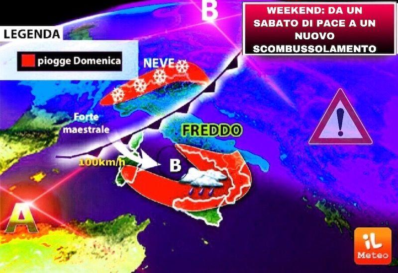 Previsioni Meteo dal 13 al 20 gennaio : breve trgua, poi torna il freddo