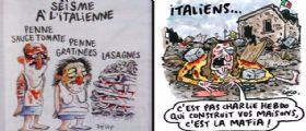 Amatrice querela Charlie Hebdo per la vignetta : Diffamazione aggravata
