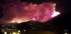 Incendio monte Serra : Centinaia di sfollati e scuole chiuse