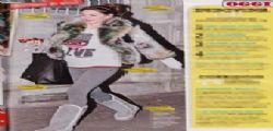Melissa Satta incita in giro per Milano