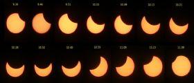 Eclissi solare del 20/3/2015: osservata da Terra e dallo spazio
