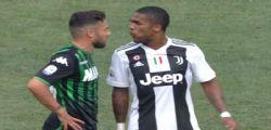Juventus-Sassuolo : Douglas Costa espulso ... sputa a Di Francesco
