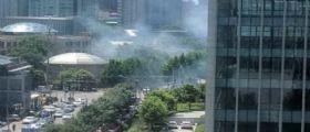 Pechino, bomba davanti all
