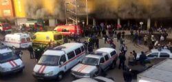 Incendio in un centro commerciale a Mosca : 3000 evacuati