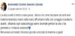 Antonietta Corinto : Mamma allatta il figlio appena nato e si suicida, l