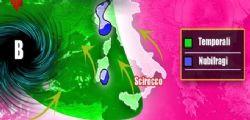 Allarme Maltempo per piogge e nubifragi al Nord-Ovest
