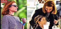 Somiglia a Fabrizio Frizzi... Carlotta Mantovan a spasso con la figlia Stella