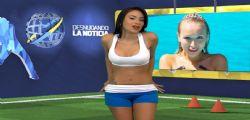 Yuvi Pallares : La giornalista hot in diretta Tv mentre parla di Cristiano Ronaldo