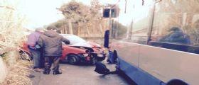 Fratte (Salerno) : Una Fiat seicento si schianta contro autobus!