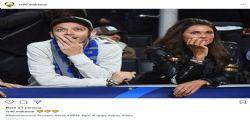 Valentino Rossi allo stadio con la fidanzata  Francesca Sofia Novello