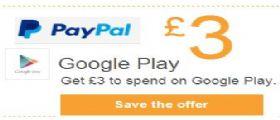 Play Store: PayPal regala 3 euro da spendere in Musica, Libri, Film, Riviste...[Offerte]