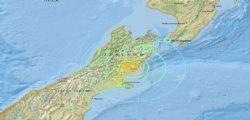 Terremoto magnitudo 7.8 Nuova Zelanda : Allerta tsunami