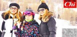 Ilary Blasi in vacanze sulle neve con i figli ... e Francesco Totti?