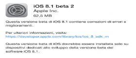 iOS 8.1 beta 2 Download : Apple lo rilascia agli sviluppatori