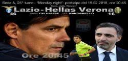 Lazio-Verona diretta tv e streaming : dove vedere Serie A oggi lunedì 19 febbraio 2018