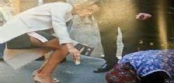 Francesca Pascale generosa : 50 euro ad una mendicante