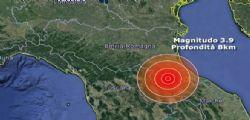 Terremoto Emilia Romagna : scossa di magnitudo 3.9 nella provincia Forlì-Cesena