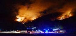 A Varese vasto incendio su Monte Martica