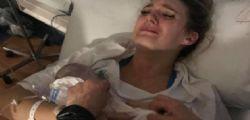 Il primo e ultimo abbraccio al figlio nato morto... la foto struggente di mamma Kristy