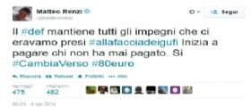 Matteo Renzi : il DEF mantiene tutti gli impegni!
