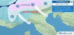Previsioni Meteo : arriva il freddo, neve anche a bassissima quota