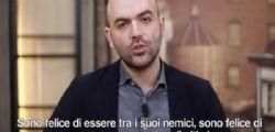 Matteo Salvini e la scorta Roberto Saviano : Credi che possa avvere paura di te? Buffone