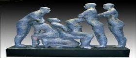 Blue human condition : La statua dell