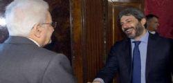 Presidente Mattarella dà mandato a Fico per verifica governo M5s Pd