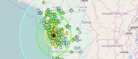 Francia : Scossa terremoto magnitudo 5