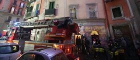 Napoli, ex monastero crolla nel cuore della città : Coinvolti 4 operai, non ci sono vittime