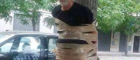 Andria : Disabile aggredito e legato ad un albero con nastro adesivo