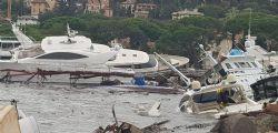 Maltempo a Rapallo, strage di yacht: danneggiata anche barca Berlusconi
