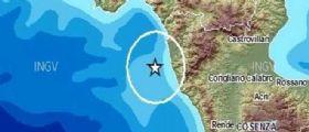 Terremoto Calabria : Scossa magnitudo 3.3 registrata questa mattina alle 5:05