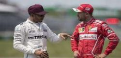 F1 : Vettel rischia dopo la lite con Hamilton