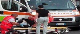 Eboli (Salerno) : Anziana attraversa la strada e viene presa in pieno da un