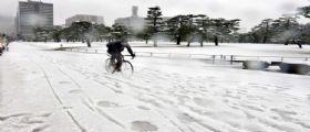 Maltempo Giappone : 8.400 case al buio e 169 feriti a causa delle forti nevicate