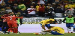 Coppa America Brasile : il Perù lo elimina con un gol di mano