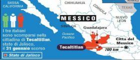I tre italiani scomparsi in Messico : Dopo l