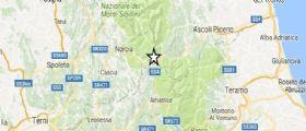 Terremoto: Ancora scosse nella notte al centro Italia fino a 2.9 tra Perugia, Macerata e L