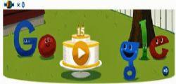 Google festeggia 15 anni con un doodle di caramelle
