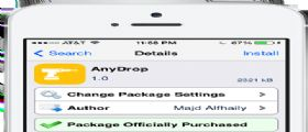 Cydia AnyDrop : Inviamo ogni tipo di file tramite AirDrop senza limitazioni