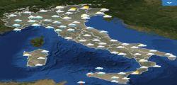 Previsioni meteo per domani sabato 3 novembre : Piove in tutta Italia
