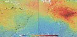 Allarme ESA! L'Amazzonia brucia e l'aria che respiriamo peggiora