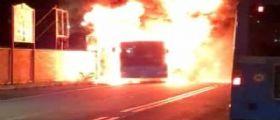 Roma brucia ancora : autobus Atac prende fuoco in via Aurelia Antica