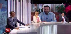 Matteo Salvini sbotta in tv contro giornalista di Repubblica