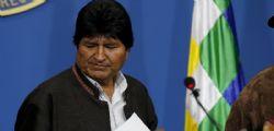 Evo Morales oggi andrà in esilio in Messico