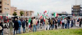 Roma Ponte di Nona : Protesta contro i campi rom