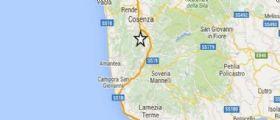 Terremoto Oggi Cosenza magnitudo 2.9 : Nessun danno segnalato