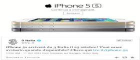 iPhone 5S e iPhone 5C dal 25 Ottobre per H3G e Vodafone